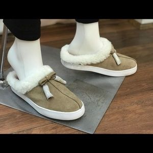 Kate Spade limon Suede and Fur mules sz 6